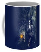 Skeleton With Jack O Lantern Coffee Mug