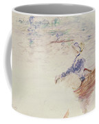 Sketch Of A Young Woman In A Boat Coffee Mug