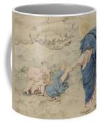 Sketch Of Christ Walking On Water Coffee Mug by Richard Dadd