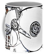 Sketch Of The Hard Disk Coffee Mug by Michal Boubin