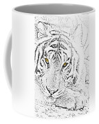 Sketch With Golden Eyes Coffee Mug