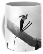 Ski Jumper Takes To The Air Coffee Mug