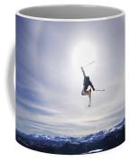 Skier Jumping, Courtenay, Bc Coffee Mug