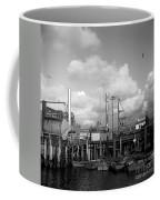 Skiffs At  Montereys Fisherman's Wharf California Circa 1945 Coffee Mug