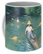 Skiffs Coffee Mug by Gustave Caillebotte