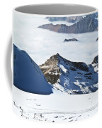 Skiing Down A Storm Coffee Mug