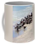Skimmers On The Beach Coffee Mug by Carol Groenen
