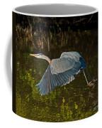 Skimming Great Heron Coffee Mug