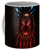 Skc 0285 Cut Glass Plate In Red And Blue Coffee Mug