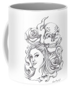 Skull And Roses Coffee Mug