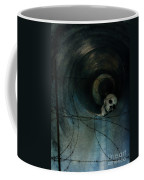 Skull In Drainpipe Coffee Mug
