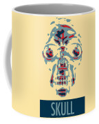 Skull In Negative Hope Coffee Mug