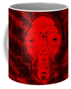 Skull In Negative Red Coffee Mug