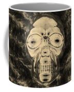 Skull In Negative Sepia Coffee Mug