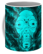 Skull In Negative Turquois Coffee Mug