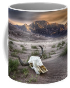 Skull In The Desert Coffee Mug