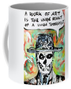 Skull Quoting Oscar Wilde.1 Coffee Mug