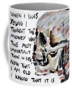 Skull Quoting Oscar Wilde.3 Coffee Mug