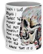 Skull Quoting Oscar Wilde.3 Coffee Mug
