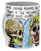 Skull Quoting Oscar Wilde.5 Coffee Mug