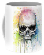 Skull Watercolor Painting Coffee Mug