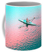 Skulling Boat At Sunset Coffee Mug