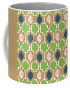 Sky And Sea Tile Pattern Coffee Mug by Linda Woods