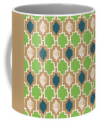 Sky And Sea Tile Pattern Coffee Mug