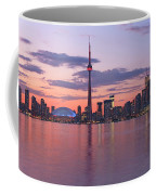Skyline At Dusk From Centre Island Coffee Mug
