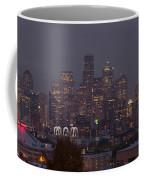 Skylines At Dusk, Seattle, King County Coffee Mug
