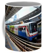 Skytrain Carriage Metro Railway At Nana Station Bangkok Thailand Coffee Mug