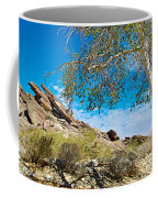 Slanted Rocks And Sycamore Tree  In Andreas Canyon In Indian Canyons-ca Coffee Mug
