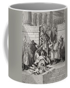 Slaughter Of The Sons Of Zedekiah Before Their Father Coffee Mug