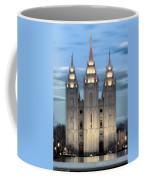 Slc Temple Blue Coffee Mug by La Rae  Roberts