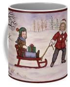 Sledding Coffee Mug