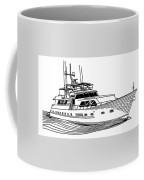 Sleek Motoryacht Coffee Mug