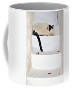 Sleeping Cat In Serifos Town Coffee Mug