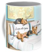 Sleeps With Yorkies Coffee Mug