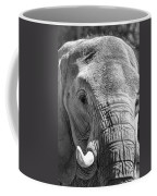 Sleepy Elephant Lady Black And White Coffee Mug