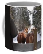 Sleigh Ride Dwn A Snowy Lane Coffee Mug