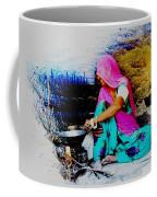 Slice Of Life Mud Oven Chulha Tandoor Indian Village Rajasthani 2 Coffee Mug