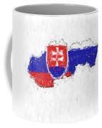 Slovakia Painted Flag Map Coffee Mug