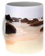 Slow Shutter Sea Around Rocks Coffee Mug