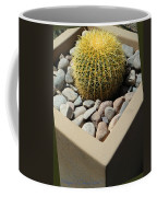 Small Barrel Cactus In Planter Coffee Mug