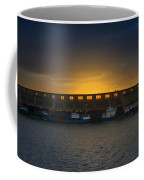 Small Boat Waiting In The Harbor Of Oostende Coffee Mug