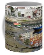 Small Boats And Seagulls In Galicia Coffee Mug