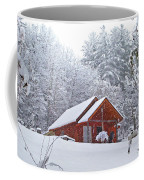 Small Cabin In The Snow Coffee Mug