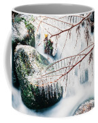 Small Creek Freezing Up Forming Icicles Coffee Mug