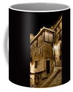 Small House In Albarracin At Night Coffee Mug