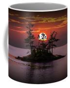 Small Island At Sunset Coffee Mug
